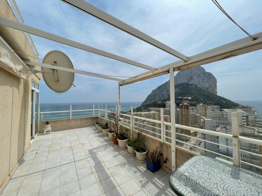 terraza vista Peñon